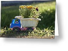 Toy Truck Planter Greeting Card by Gordon Wood