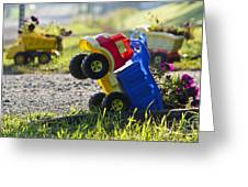 Toy Truck Planters Greeting Card by Gordon Wood