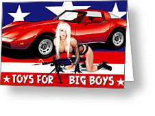 Toys For Big Boys Greeting Card by Brian Gibbs