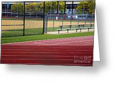 Track And Baseball Diamond Greeting Card by Inti St. Clair