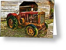 Tractor Greeting Card by Julian Bralley