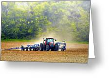 Tractor Work Greeting Card by Bill Tiepelman