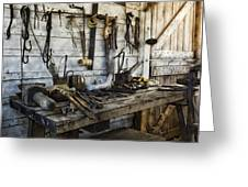 Trade Tools Greeting Card by Peter Chilelli