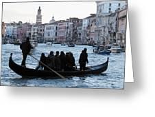 Traghetto . Gran Canal. Venice Greeting Card by Bernard Jaubert