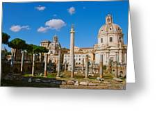 Trajan's Market Greeting Card by Eric Tressler