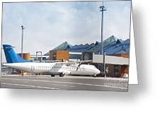 Transport Plane At The Airport Greeting Card by Jaak Nilson