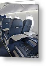 Tray Table On An Airplane Greeting Card by Jaak Nilson