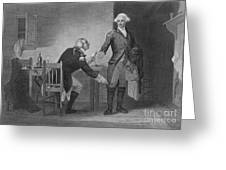 Treason Of Benedict Arnold, 1780 Greeting Card by Photo Researchers