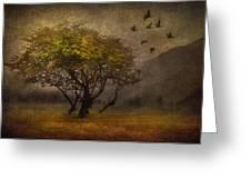 Tree and Birds Greeting Card by Svetlana Sewell