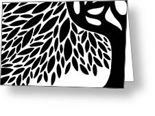 Tree Graphic Greeting Card by HD Connelly