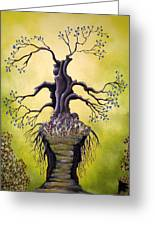 Tree Of Agony Greeting Card by Edwin Alverio