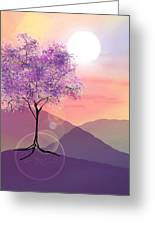 Tree On A Hill Greeting Card by Ginny Schmidt
