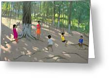 Tree Swing Greeting Card by Andrew Macara