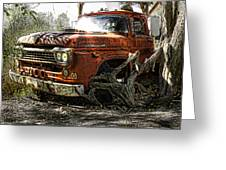 Tree Truck Greeting Card by Peter Chilelli