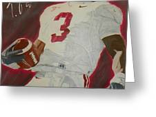 Trent Richardson Alabama Crimson Tide Greeting Card by Ryne St Clair