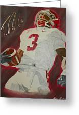 Trent Richardson Alabama Crimson Tide Greeting Card by Ryne St Clair