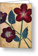 Tres Fleurs Greeting Card by Maureen House