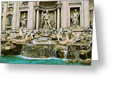 Trevi Fountain Greeting Card by Eric Tressler
