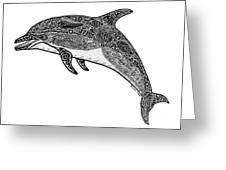 Tribal Dolphin Greeting Card by Carol Lynne