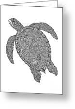Tribal Turtle II Greeting Card by Carol Lynne