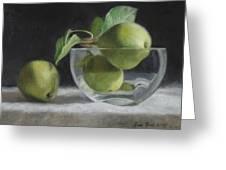 Trio Of Pears Greeting Card by Anna Bain