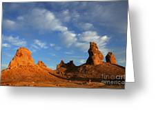 Trona Pinnacles Golden Hour Greeting Card by Bob Christopher