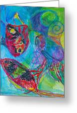 Tropical Ballet II Greeting Card by Claudia Smaletz