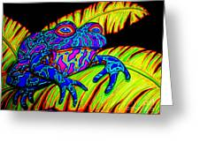 Tropical Frog Greeting Card by Nick Gustafson