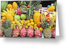 Tropical Fruit Display  Greeting Card by Roberto Morgenthaler