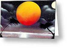 Tropical Sunset Greeting Card by Marc Chambers