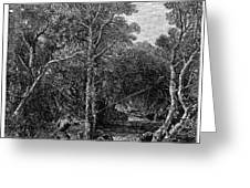 TROUT FISHING, 1867 Greeting Card by Granger
