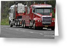Truck Tow Greeting Card by Joanne Kocwin