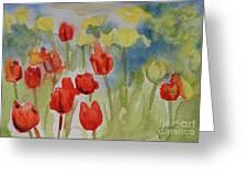 Tulip Field Greeting Card by Gretchen Bjornson