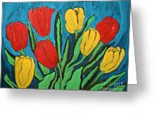Tulips Greeting Card by Anna Folkartanna Maciejewska-Dyba