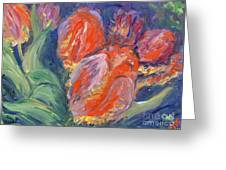 Tulips Greeting Card by Barbara Anna Knauf