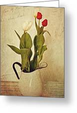 Tulips Greeting Card by Kathy Jennings