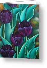 Tulips Greeting Card by Paula L