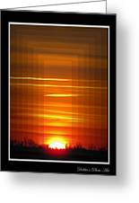 Tunnle Vision Greeting Card by Debbie Portwood