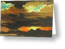 Turbulence Greeting Card by Sandy Tracey