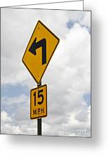 Turn Sign Greeting Card by Blink Images