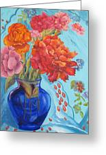 Turquoise Delight Greeting Card by Lisa Boyd