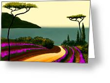 Tuscan Fields Of Beauty Greeting Card by Larry Cirigliano