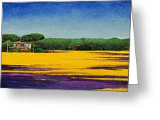 Tuscan Landcape Greeting Card by Trevor Neal