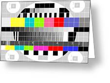 Tv Multicolor Signal Test Pattern Greeting Card by Aloysius Patrimonio