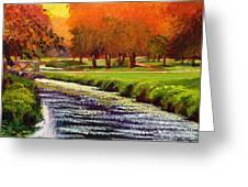 Twilight Golf II Greeting Card by David Lloyd Glover