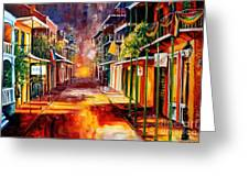 Twilight In New Orleans Greeting Card by Diane Millsap