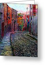 Twilight In San Miguel De Allende Greeting Card by John  Kolenberg