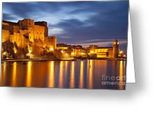 Twilight Over Collioure Greeting Card by Brian Jannsen
