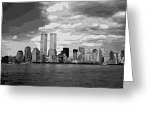 Twin Towers Bw10 Greeting Card by Scott Kelley