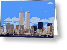 Twin Towers Color 6 Greeting Card by Scott Kelley